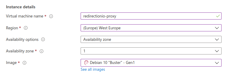 Azure Virtual Machine Creation Interface